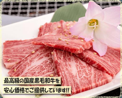 最高級の国産黒毛和牛を安心価格でご提供しています!!